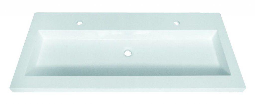 Sanotechnik öntött márvány dupla-csaplyukas mosdó 120 cm