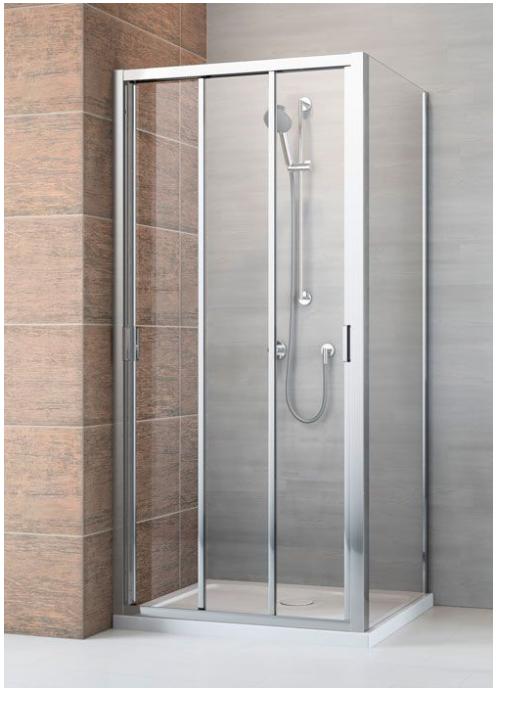 Radaway EVO DW +S szögletes tolóajtós zuhanykabin ajtó 75 / 80 / 85 / 90 / 95 / 100 / 105 / 110 / 120 cm, oldalfal 70 / 75 / 80 / 90 / 100 cm; 200 cm magas